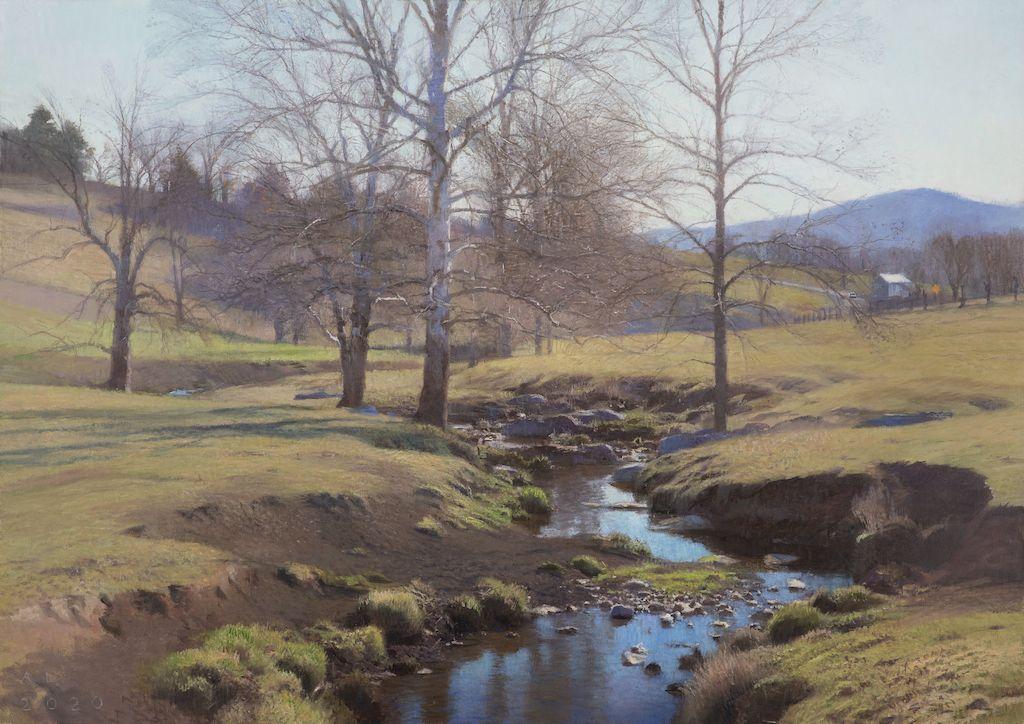"Ann Lofquist, Swover Creek  28"" x 39""  Oil On Canvas"