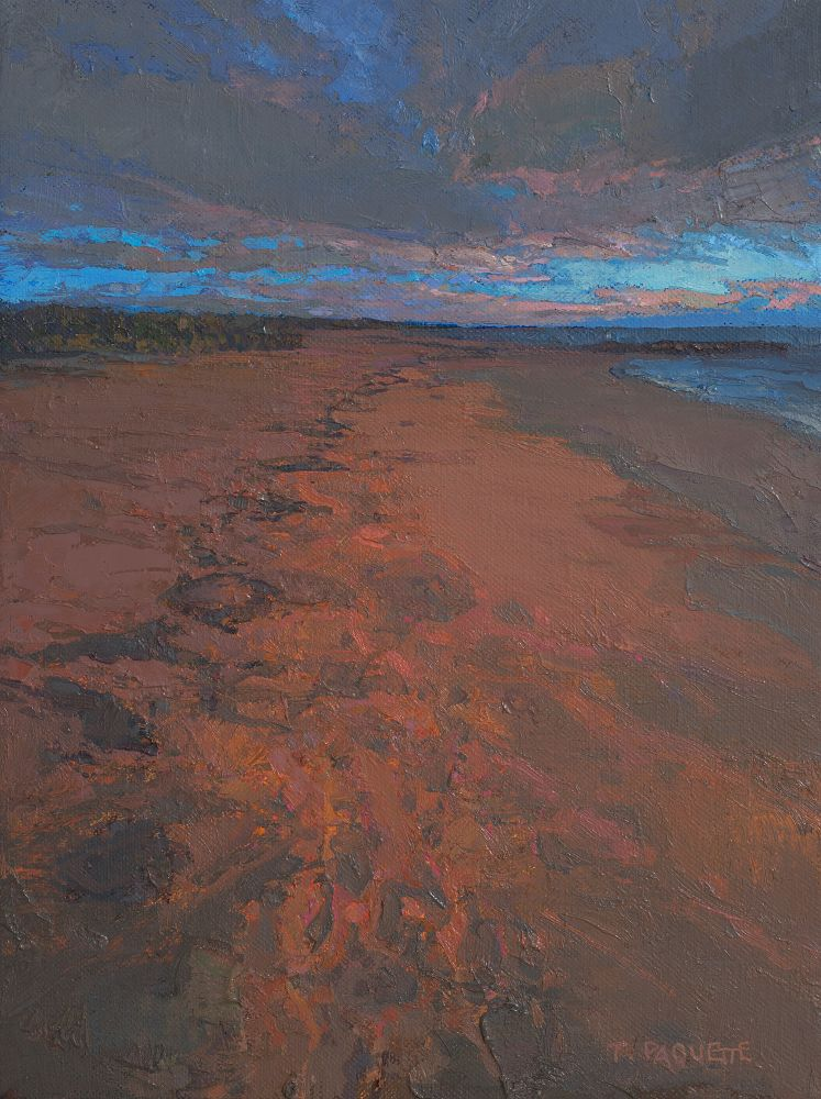 """Evening Beach (study) 16"""" x 12""""  Oil On Linen"""