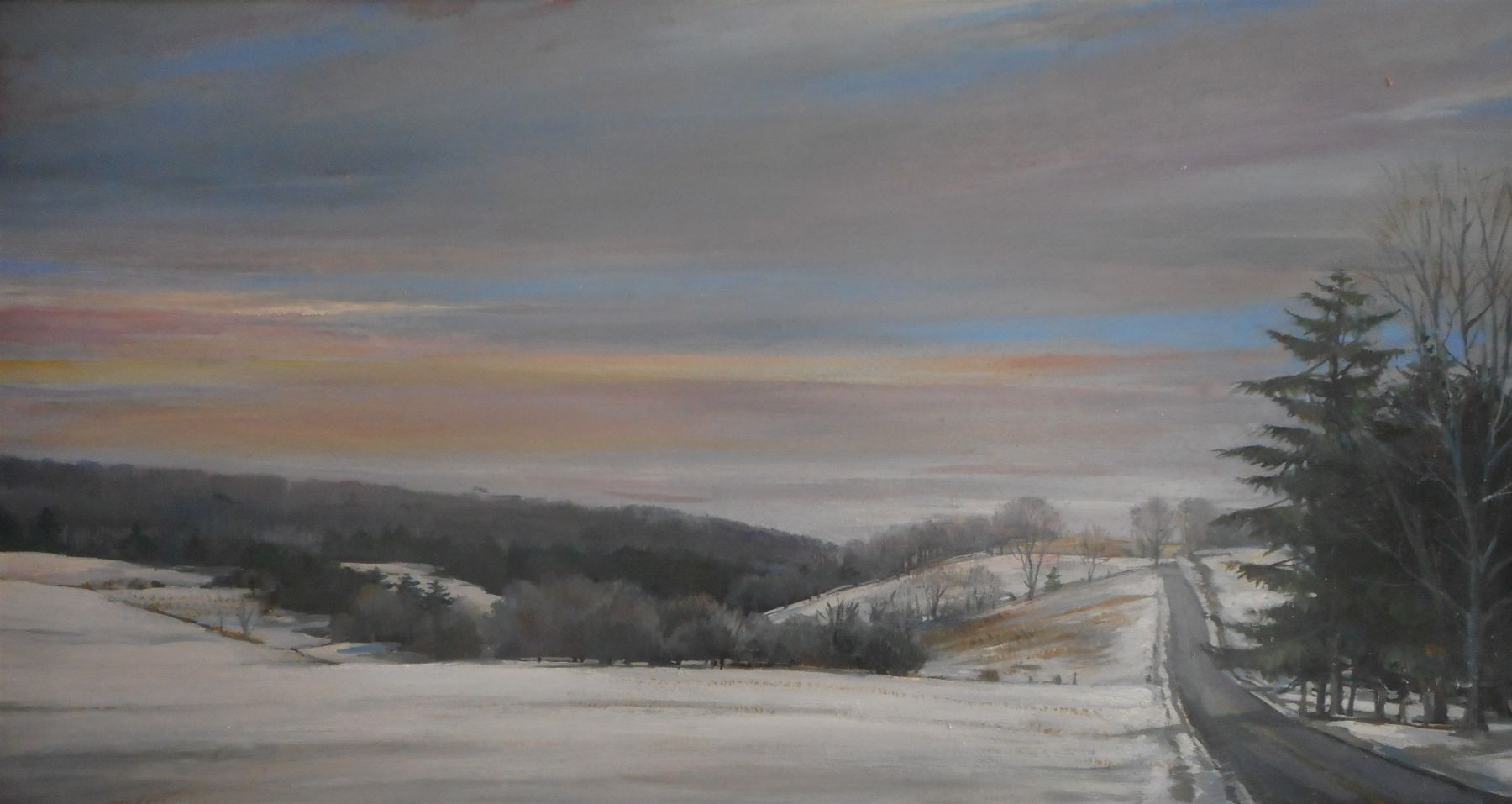"""Winter Morning  16"""" x 30""""  Oil On Canvas"""