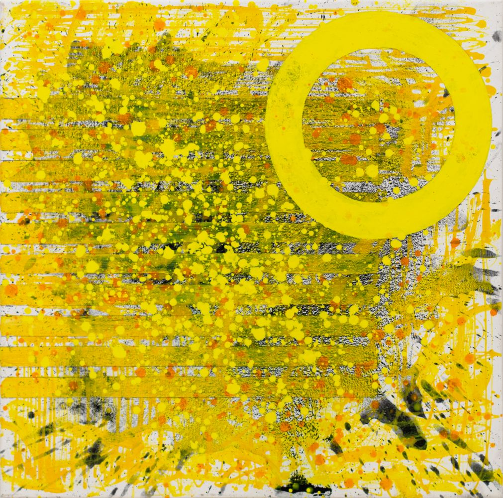 JSM, Sunshine (The Light after the Darkness)24.24.02, 2020, acrylic, 24 x 24 inches