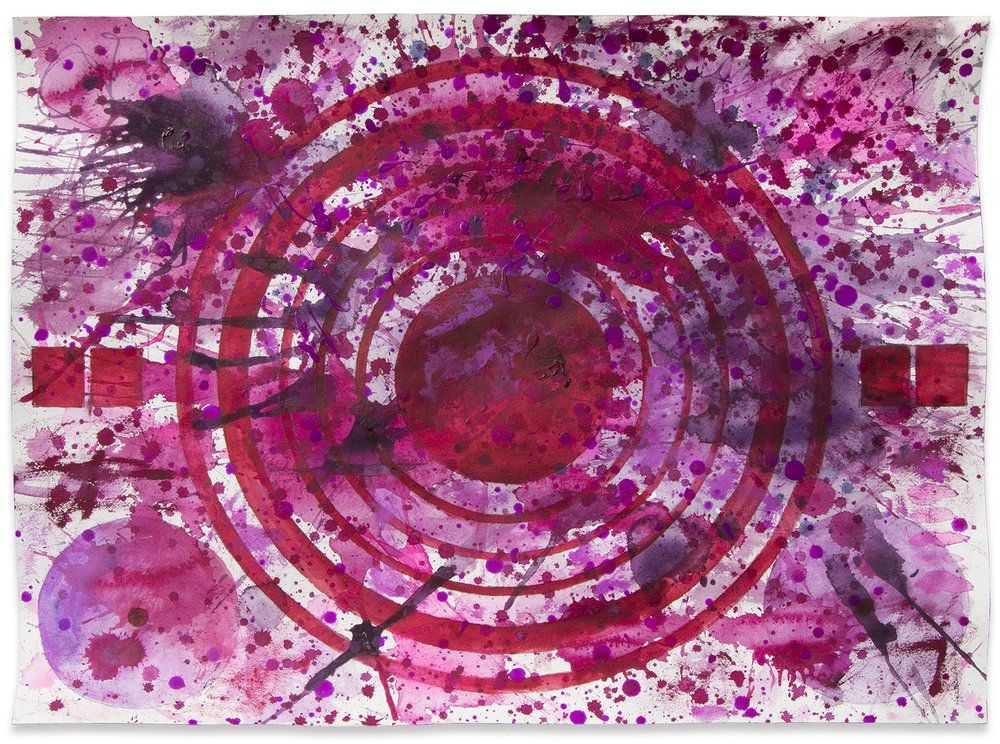 J. Steven Manolis, Qatari Rhapsodies (Sonata 2), 2018, Watercolor on Arches paper, 18 x 24 inches, For sale at Manolis Projects Art Gallery, Miami Fl