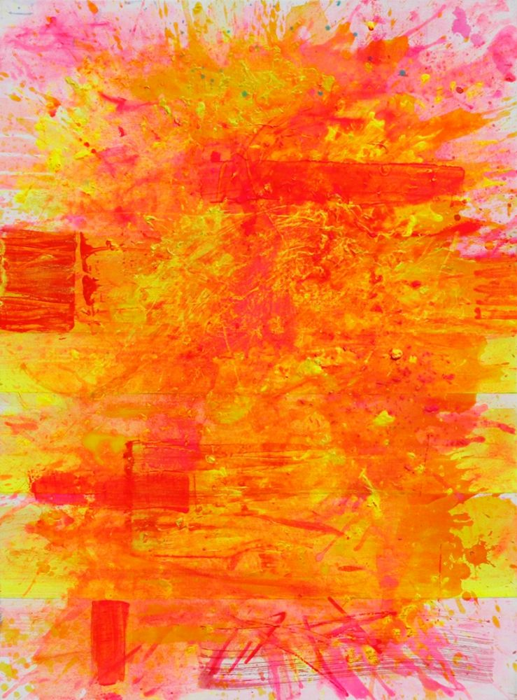 j. Steven Manolis, Palm Beach Light (Sunrise), 2019, Acrylic on canvas, 40 x 30 inches, Abstract Expressionism paintings for sale at Manolis Projects Art Gallery, Miami, Fl