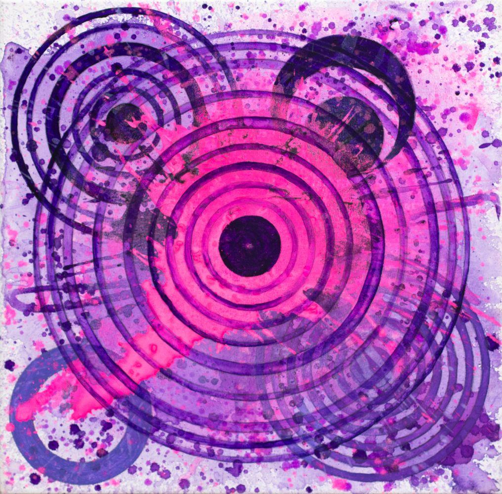 J. Steven Manolis, PurpleFields, 2020, Acrylic on canvas, for sale at Manolis Projects Art Gallery