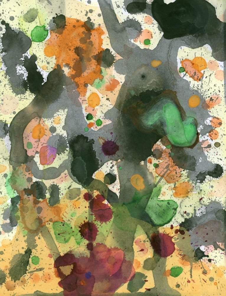 J. Steven Manolis, Cornucopia 2006.04, Gouache and Watercolor on paper, 11.75 x 9 inches, For sale at Manolis Projects Art Gallery, Miami Fl