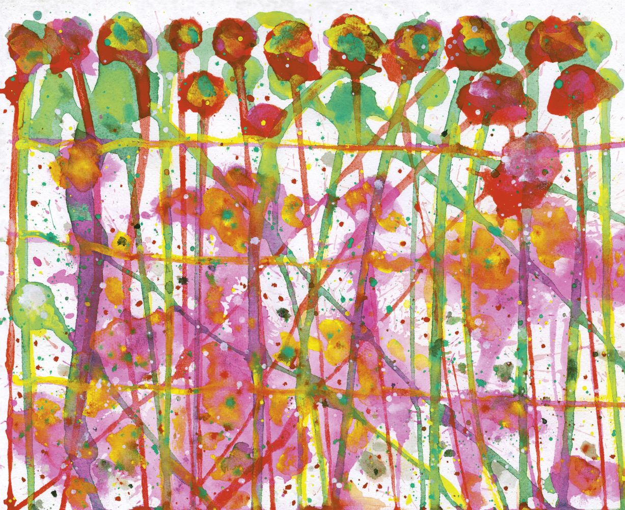 J. Steven Manolis, Dance of the Sugar Plums, 2007, Watercolor and gouache on paper, 11 x 13.5 inches, For sale at Manolis Projects Art Gallery, Miami Fl