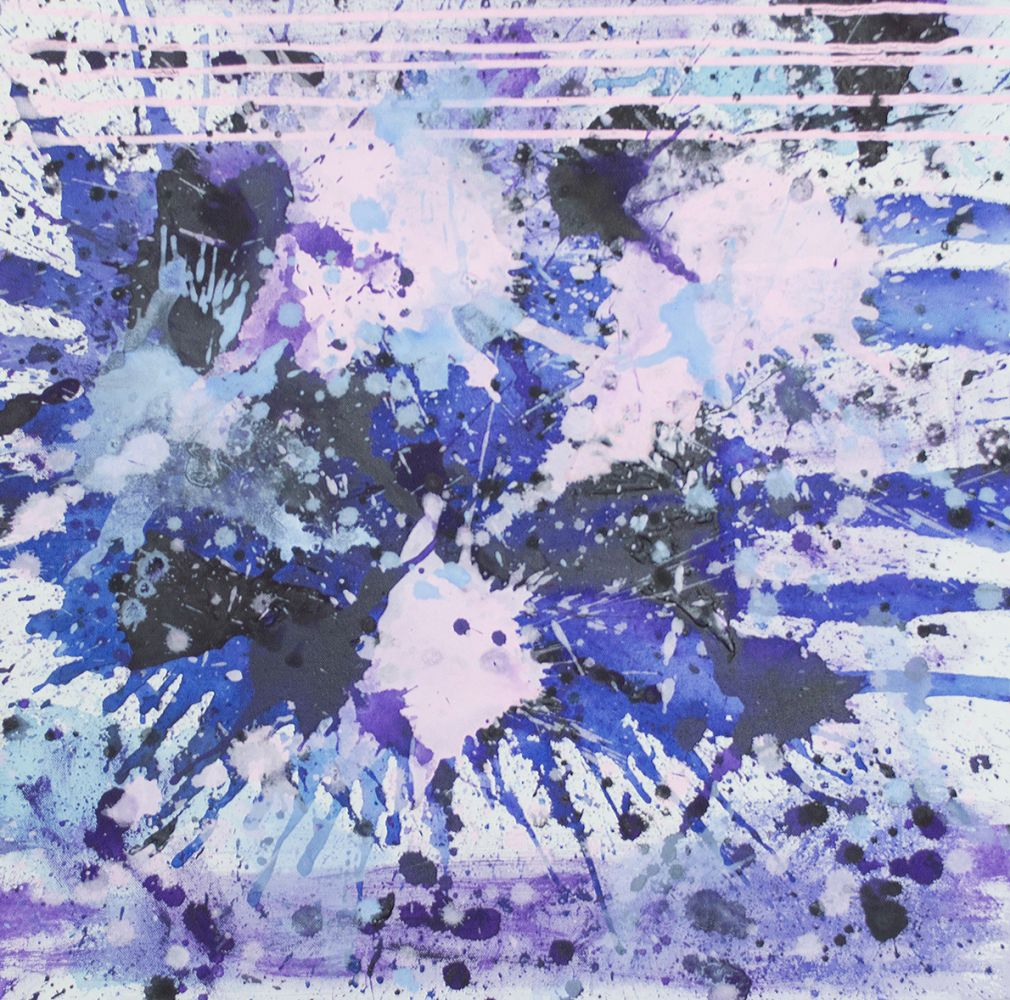 j steven manolis, PurpleField, 2017, acrylic on canvas, 24 x 24 inches, 2017.01, For sale at Manolis Projects Art Gallery, Miami FL