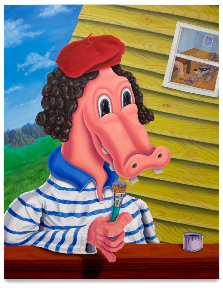 Nicasio Fernandez, Painter on the Job, 2018