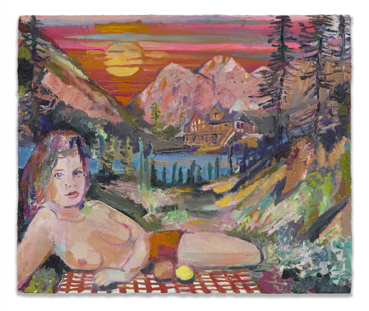 Elizabeth Huey, All Pink With Naked Joy, 2019