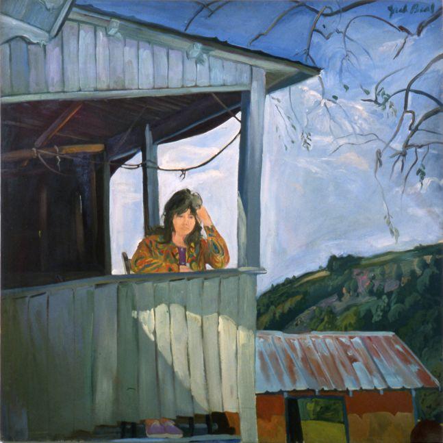 Jack Beal, Sondra on Back Porch, 1964.