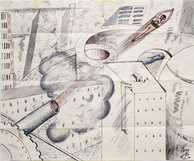 H.C. Westermann, 'Human Cannonball,' 1968