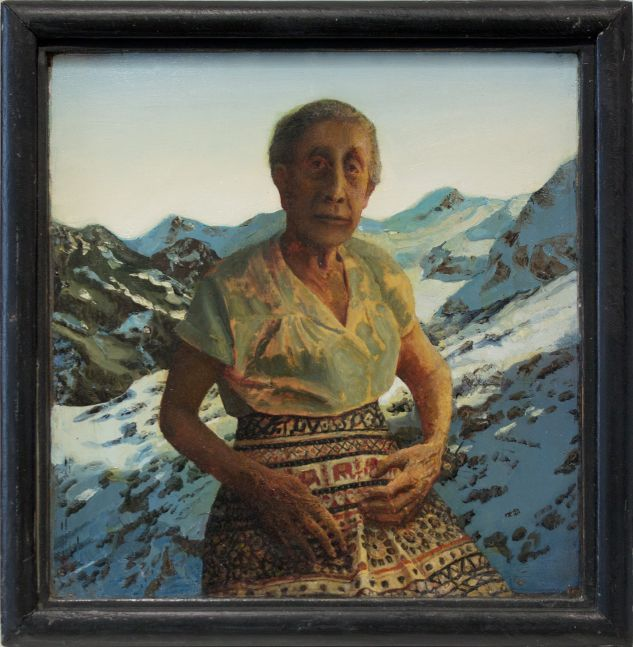 Gregory Gillespie 'Rite (Peggy's Grandmother in the Alps)'