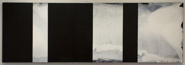 "123 reverse, 2017 Acreylic on canvas, 27 x 81"""