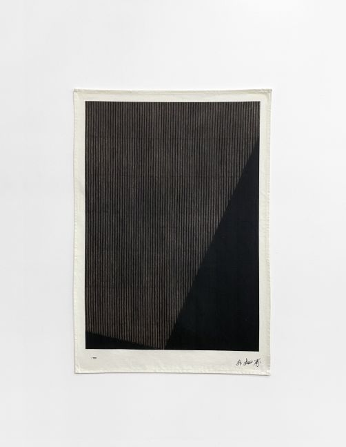 Park Seo-Bo (b. 1931) Untitled (Based on Ecriture No. 990127, 1999) , 2020 Digital print on tea towel, 100% cotton 27.56 x 19.69 inches 70 x 50 cm Edition of 100