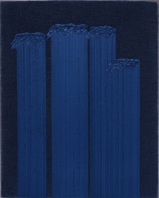 Ha Chong-Hyun (b. 1935) Conjunction 19-32, 2019 Oil on hemp cloth 63.78 x 51.18 inches 162 x 130 cm
