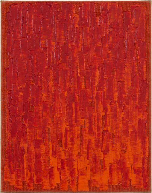 Ha Chong-Hyun (b. 1935) Conjunction 20-38, 2020 Oil on hemp cloth 46.06 x 35.83 inches 117 x 91 cm