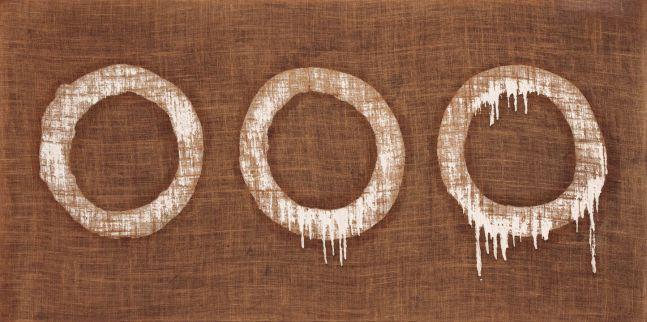 Ha Chong-Hyun (b. 1935) Conjunction 79-79, 1979 Oil on hemp canvas 31 1/2 x 62 3/5 inches 80 x 159 cm