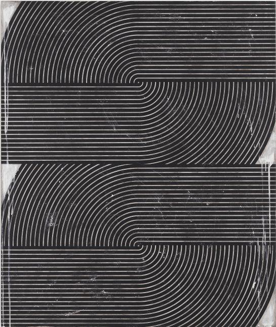 Davide Balliano (b. 1983)  UNTITLED_0142, 2019  Plaster, gesso & varnish on wood  48 x 40 inches  121.9 x 101.6 cm