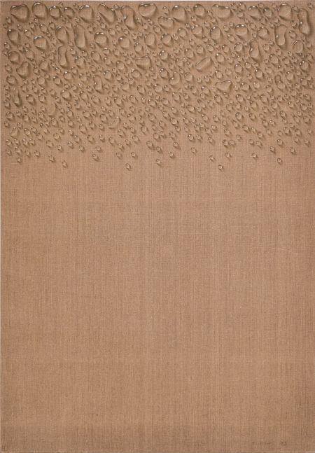 Kim Tschang-Yeul (b. 1929) Water drops, 1973 Oil on linen 39.57 x 27.56 inches 100.5 x 70 cm