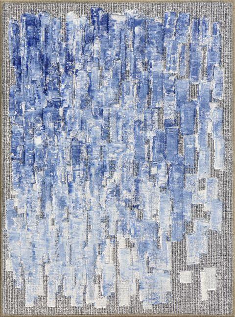 Ha Chong-Hyun (b. 1935) Conjunction 21-02, 2021 Oil on hemp cloth 51.3 x 38.19 inches 130.3 x 97 cm