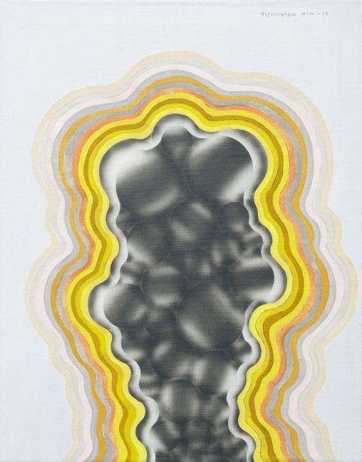 Kim Tschang-Yeul (b. 1929) Composition, 1969 Acrylic and nitrocellulose lacquer on linen 28.54 x 22.44 inches 72.5 x 57 cm