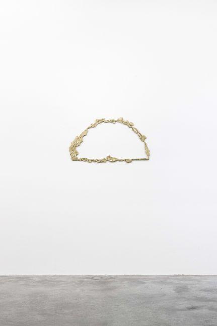 Tania Pérez Córdova (b. 1979) Contour #5, 2020 Bronze poured into sand 19.69 x 39.37 x .79 inches 50 x 100 x 2 cm