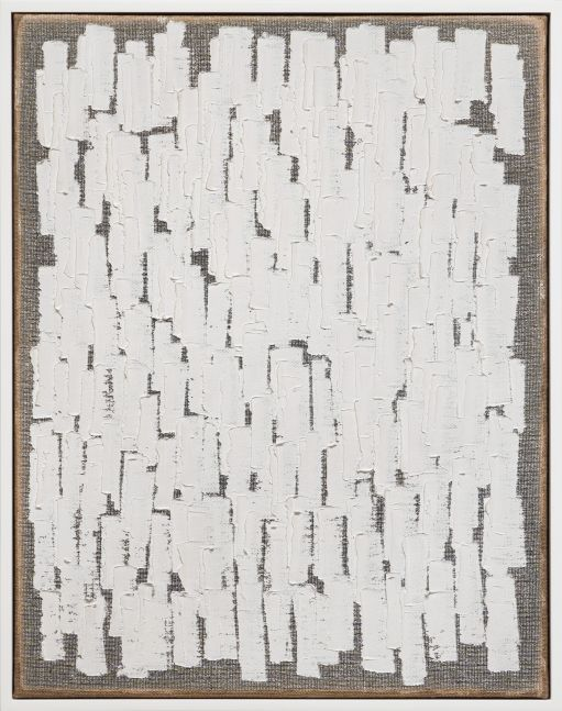 Ha Chong-Hyun (b. 1935)  Conjunction 20-74, 2020  Oil on hemp cloth  46.06 x 35.83 inches  117 x 91 cm