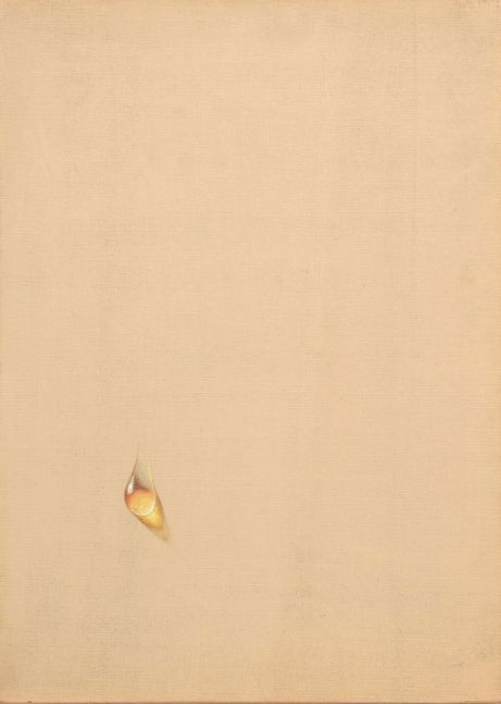 Kim Tschang-Yeul (b. 1929) Water drop, 1976 Oil on linen 12.99 x 18.11 inches 33 x 46 cm