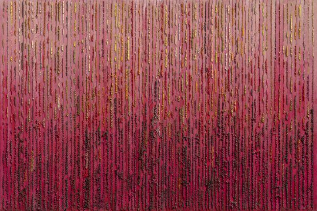 Ha Chong-Hyun (b. 1935) Post Conjunction 2011-49, 2011 Mixed Media  47.24 x 70.87 inches 120 x 180 cm