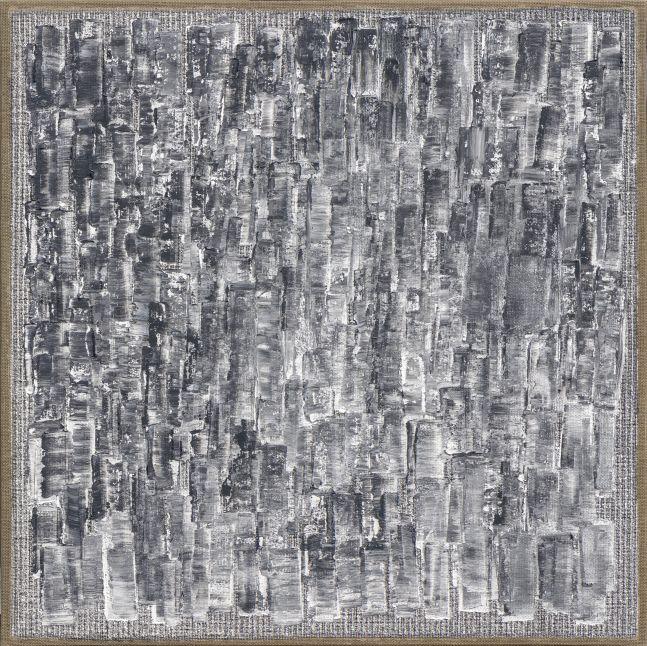 Ha Chong-Hyun (b. 1935) Conjunction 21-07, 2021 Oil on hemp cloth 47.24 x 47.24 inches 120 x 120 cm