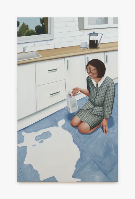 Madeleine Pfull, Spilt Milk 2, 2020. Oil on linen, 72 x 48 in, 182.9 x 121.9 cm (MP20.006)