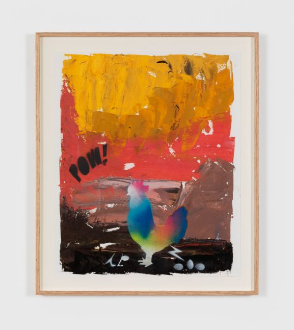 Alessandro Pessoli A.P. Against the 19, 2020 oil, spray paint, oil pastel on paper 17 x 14 in 43.2 x 35.6 cm (APE20.003)