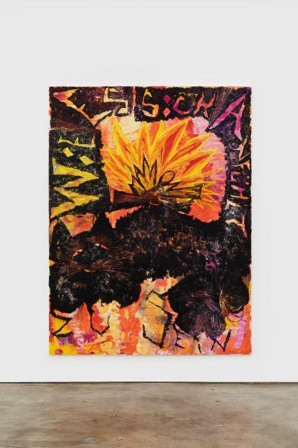 BENDIX BENDIX HARMS Wie es sich anfühlt Mamon zu sein, 2019 Oil on canvas 98 3/8 x 74 3/4 in 250 x 190 cm (BHA20.010)
