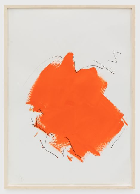 Imi Knoebel Untitled, 1976 Oil and graphite on paper 39 3/8 x 27 1/2 in 100 x 69.8 cm (IK76.014)