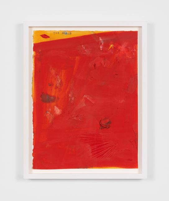 Dashiell Manley TOO MUCH, 2020 oil and pencil on paper 11 1/2 x 15 in, 29.2 x 38.1 cm (unframed) 17 x 13 1/2 in, 43.2 x 34.3 cm (framed) (DMA20.004)