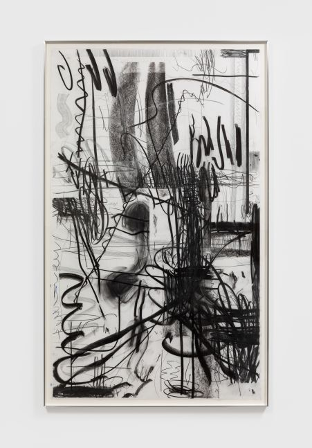 Andreas Breunig Untitled, 2018 Graphite and charcoal on paper 66 1/8 x 39 3/8 in 168 x 100 cm (ABR20.004)