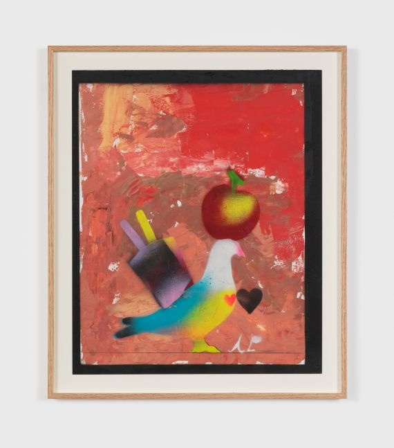 Alessandro Pessoli Human Nature, 2020 oil, spray paint, oil pastel on paper 17 x 14 in 43.2 x 35.6 cm (APE20.002)