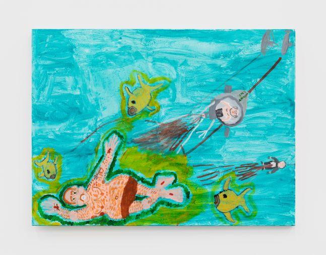 Raynes Birkbeck Fun on the Beach, 2020 Oil and acrylic on canvas 36 x 48 in 91.4 x 121.9 cm (RBI20.007)