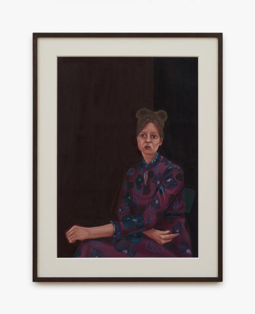 Madeleine Pfull, Purple Study, 2020. oil on paper, 19 1/4 x 25 3/8 in, framed 49 x 64.5 cm, framed (MP20.025)