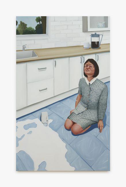 Madeleine Pfull, Spilt Milk 1, 2020. Oil on linen, 72 x 48 in, 182.9 x 121.9 cm (MP20.005)