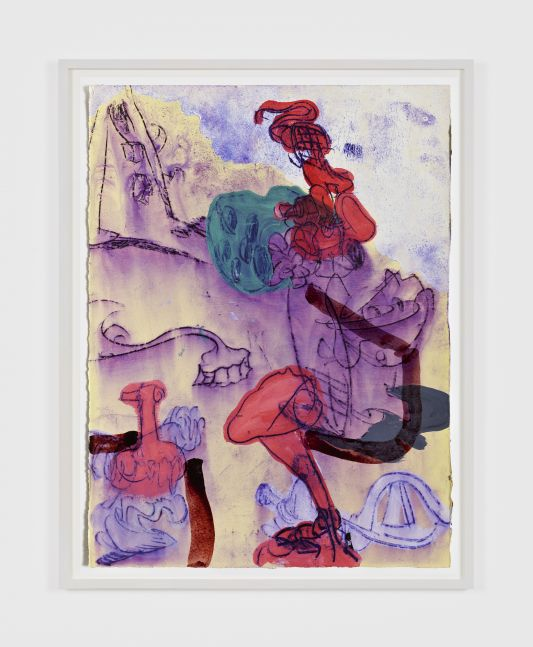 Antwan Horfee Grinchet Jones 3 , 2021 Acrylic and chemical ink on paper 15 x 11 1/8 in 38 x 28 cm (HOR21.018)