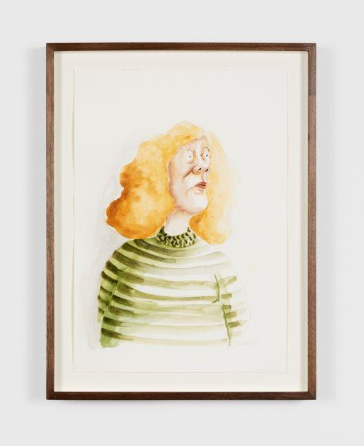 Madeleine Pfull Green Stripes, 2020 Gouache on paper 8 1/4 x 11 3/4 in 21 x 29.7 cm (MPF20.015)