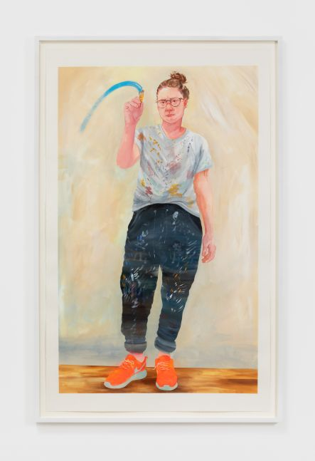 Rebecca Ness, What a Painting Sees, 2020. Gouache on paper, 40 x 25 in, 101.6 x 63.5 cm, 42 1/2 x 27 1/4 in (framed), 108 x 69.2 cm (RNE20.016)