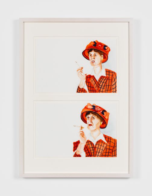 Madeleine Pfull Red Hat, 2020 Gouache on paper 11 3/4 x 15 3/4 in 30 x 40 cm (MPF20.010)