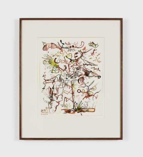 Jan-Ole Schiemann, Untitled, 2020. Ink on paper, 12 1/4 x 10 1/8 in, 31 x 25.5 cm (JS20.026)