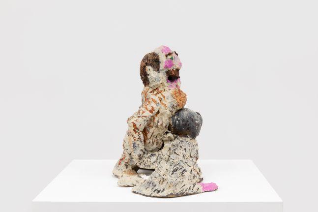 Raynes Birkbeck, Teddy and Detective Wally, 2020. Acrylic on ceramic, 15 1/2 x 21 x 12 in, 39.4 x 53.3 x 30.5 cm (RBI20.003)