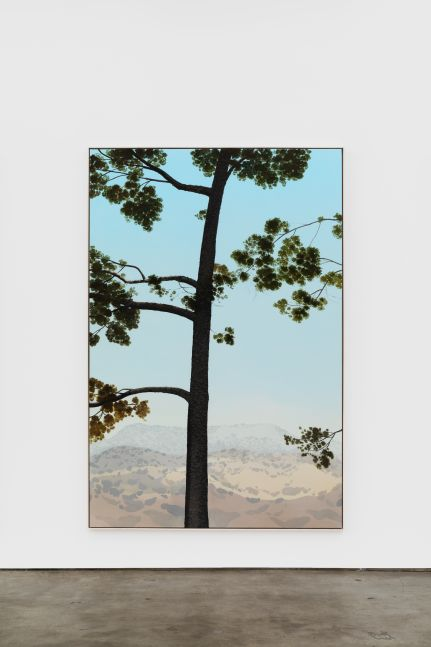 Jake Longstreth In Glendale (Pine 5), 2020 oil on muslin 84 x 57 in (85 x 57.25 in, framed) 213.4 x 144.8 cm (216 x 145.5 cm, framed) (JLO20.003)