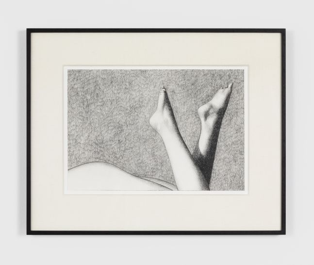 Anna Weyant Untitled, 2020 Graphite on paper 9 x 13 in, 22.9 x 33 cm (unframed) 15 x 19 in, 38.1 cm x 48.3 (framed) (AW20.006)