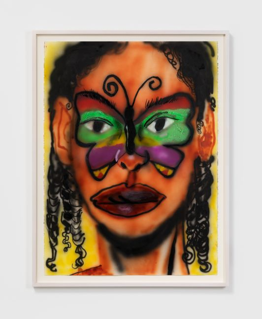 Brianna Rose Brooks Untitled, 2020. Airbrush and acrylic on Stonehenge paper 30 x 22 1/2 in 76.2 x 57.1 cm (BRO20.004)