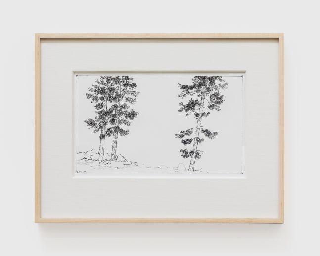 Jake Longstreth, Untitled (Echo Chords 7), 2020. ink on paper, 11 x 14 in (11 ½ x 15 in, framed), 27.9 x 35.6 cm (29.2 x 38.1 cm, framed) (JLO20.053)