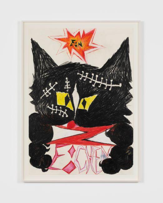 Bendix Harms Rufus (Ein Zeichen), 2018 Wax crayon on paper 27 1/2 x 19 3/4 in 70 x 50 cm (BHA20.013)